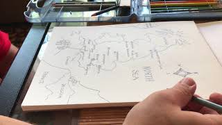 ASMR - I Draw a Map of England - No talking