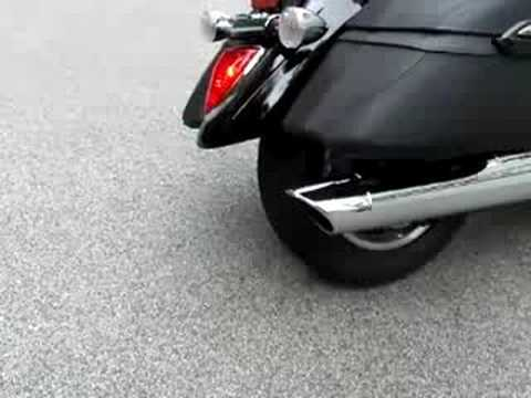 2007 vstar 1300 with drilled oem exhaust