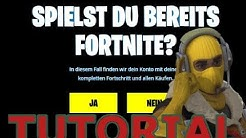 Fortnite PS4 mit EpicGames verknüpfen!! [GER] Part 2.