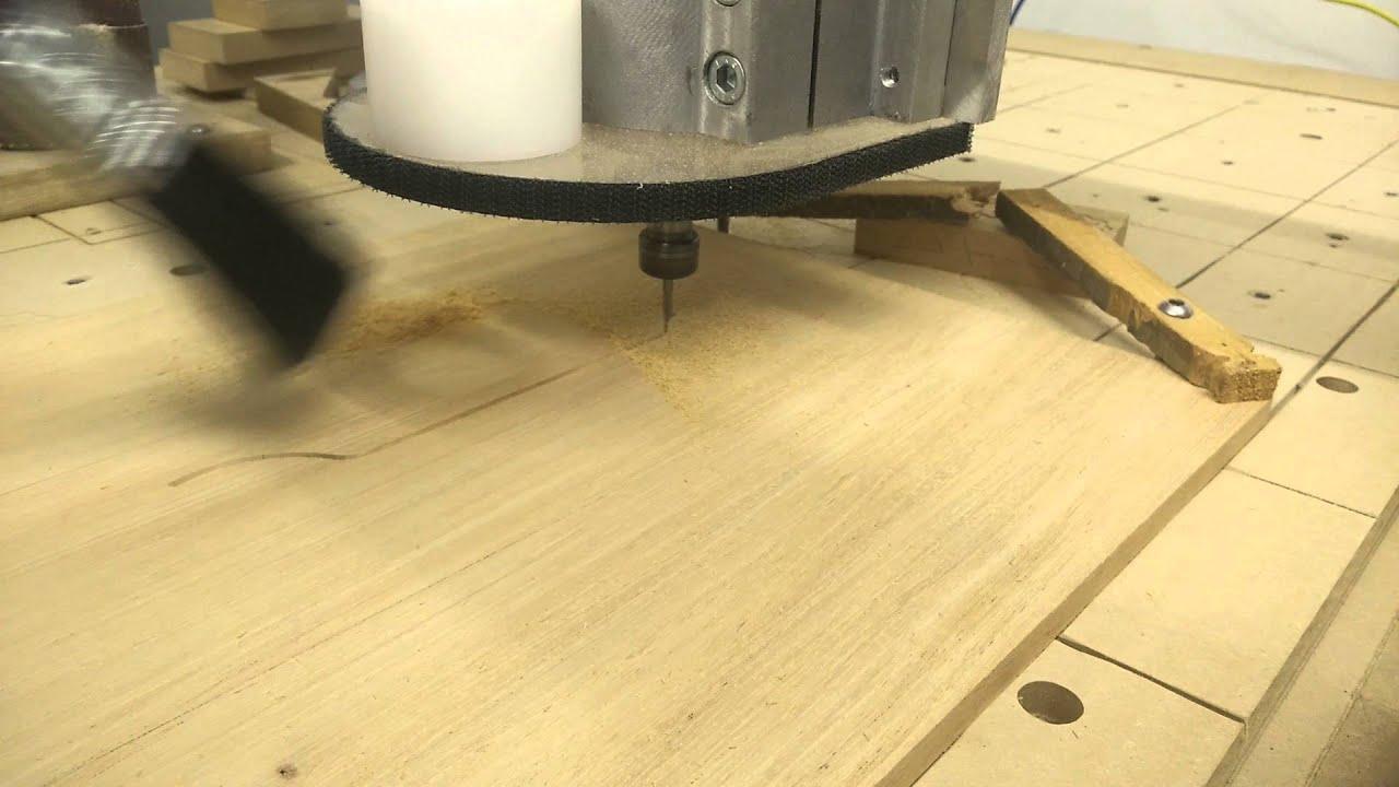 Random CNC clip #2 - engraving clockface