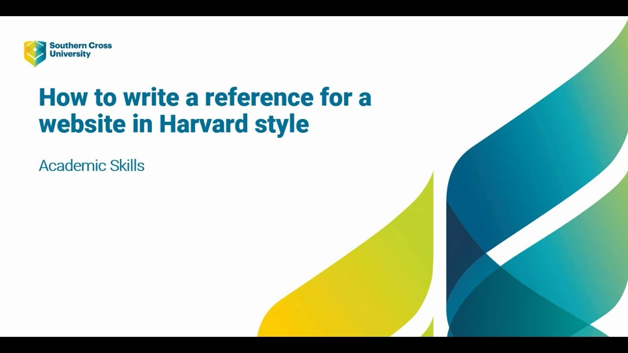 Websites Harvard Referencing Guide Libguides At Southern Cross University