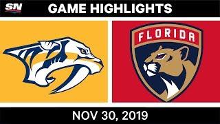 NHL Highlights   Predators vs. Panthers – Nov. 30, 2019