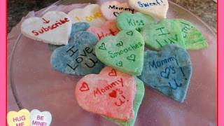 Diy Conversation Hearts For Valentine's Day (homemade Conversation Hearts)