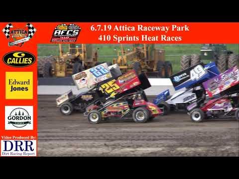 6.7.14 Attica Raceway Park 410 Sprints Heat Races
