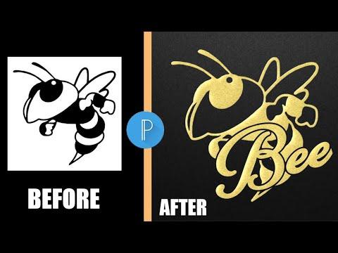 Bee Logo Design || Pixellab