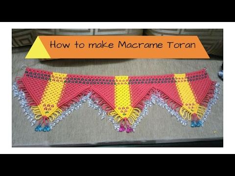 How to make Macrame Toran | Full Video | Easy making