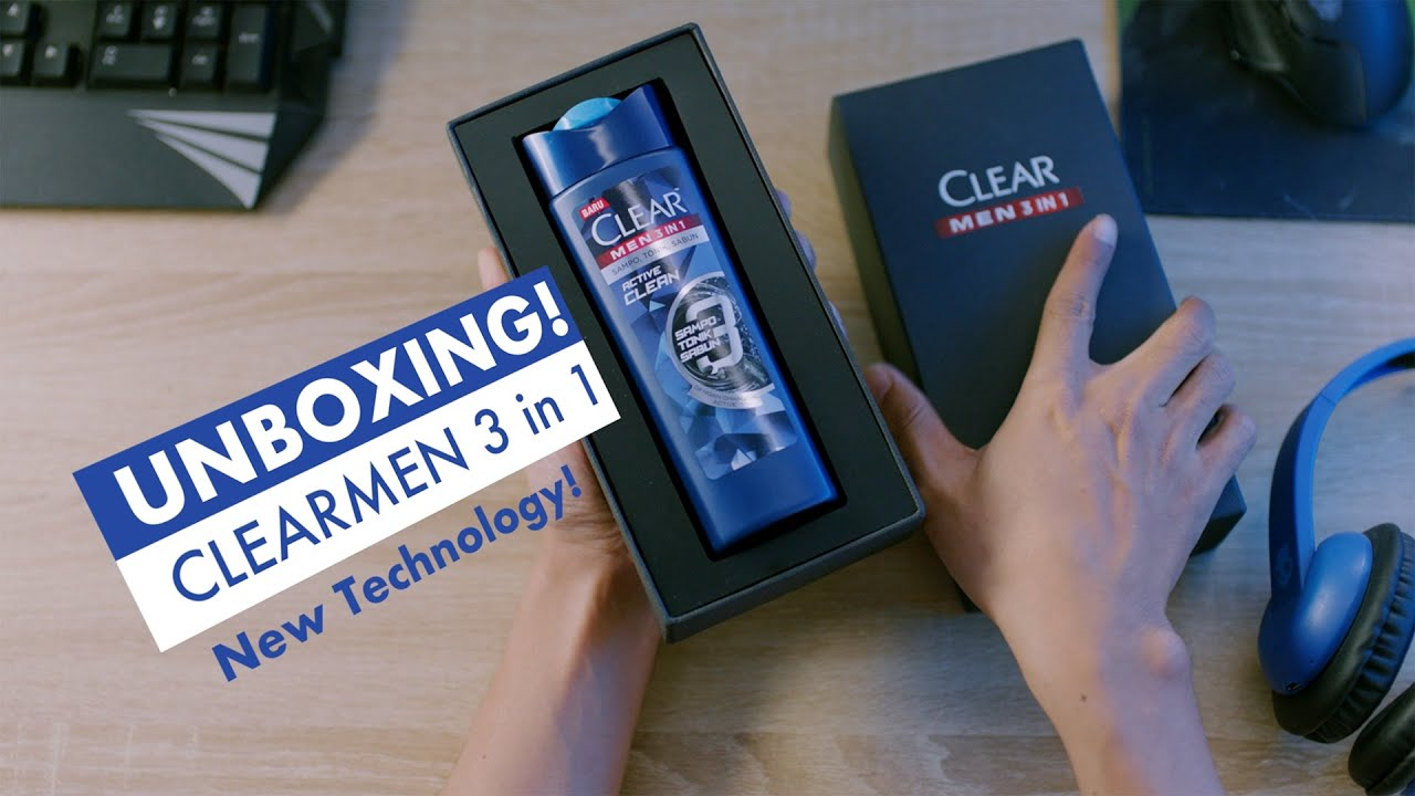 Unboxing Clear Men 3in1: New Technology! #SikatHabis