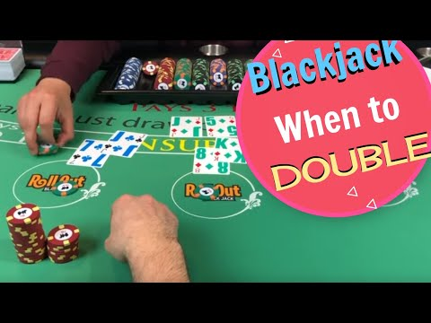 Blackjack Session - When to Double and when to hit? - NeverSplit10s