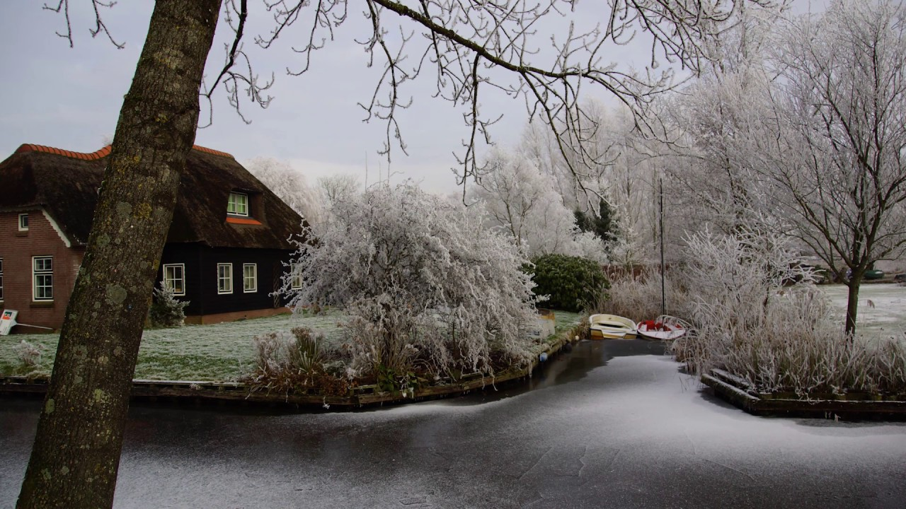 Winter Rime Giethoorn Netherlands The Venice Of The North Youtube