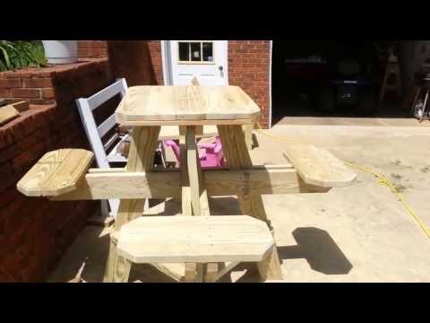 Bar stool picnic table preview!  Have a look!
