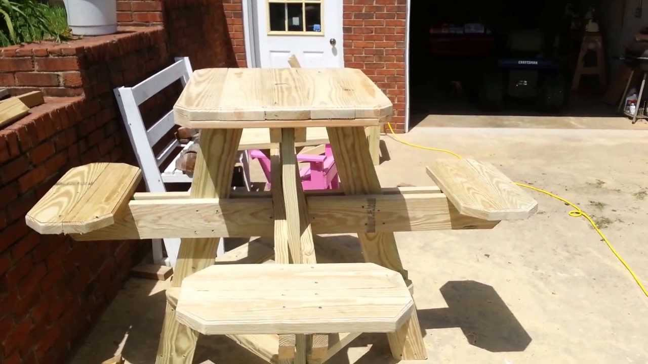 Bar stool picnic table preview! Have a look! - YouTube