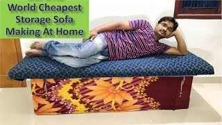 How to Make Best Storage Diwan Sofa at Home Below 1000 Rs/- Cost || Best Out of Waste