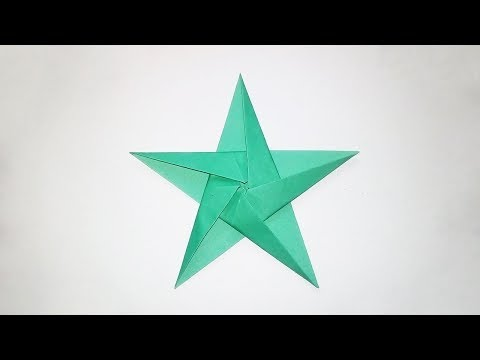 Origami Five Pointed Star - Easy Origami Star Tutorial