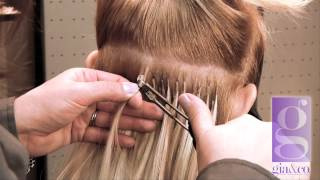 Application of Hairdreams Hair Extensions