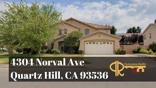 Quartz Hill Home for Sale: 4304 Norval Avenue