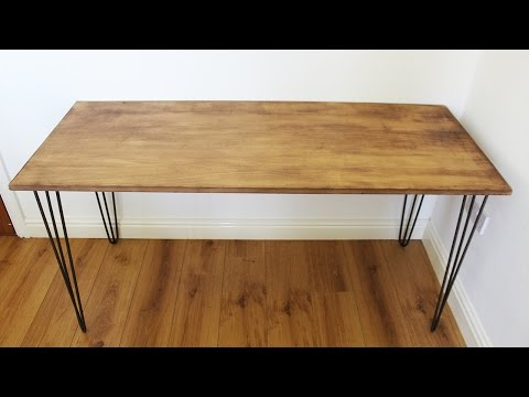 3 STEP DIY INDUSTRIAL HAIRPIN DESK