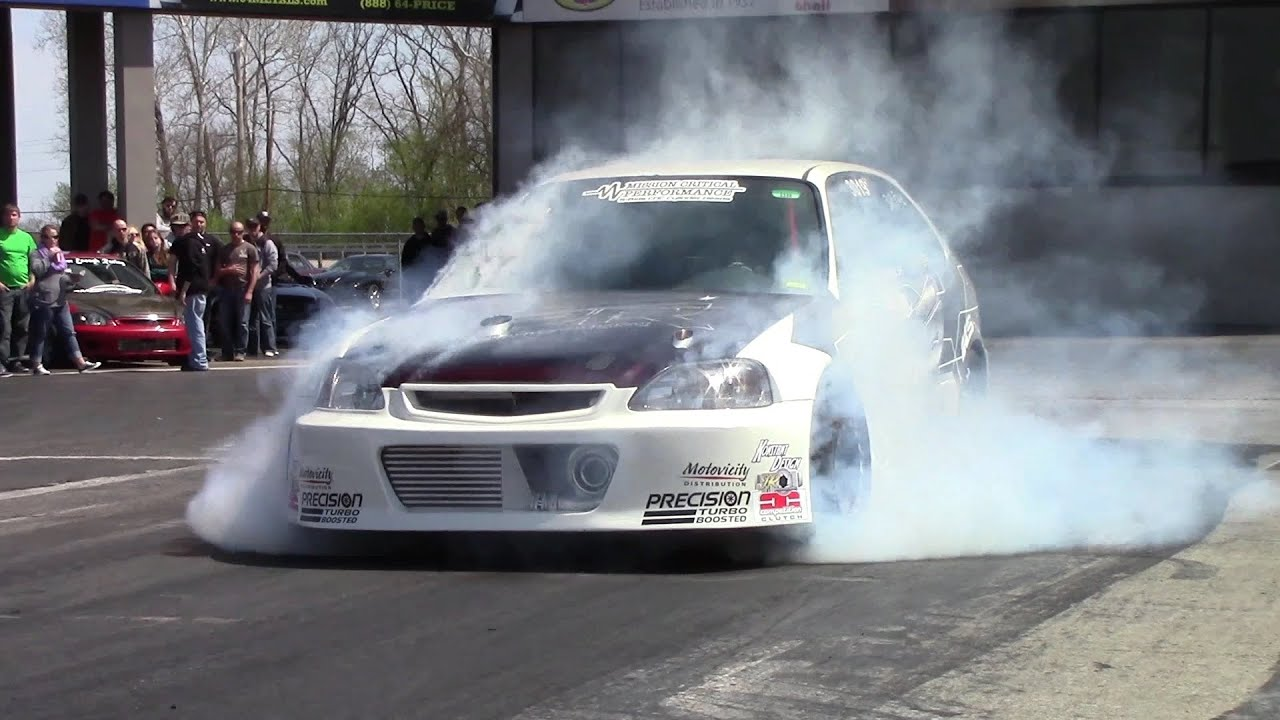180mph 1000hp Honda Civic│TPR Turbo Track Beast Drag Racing - YouTube