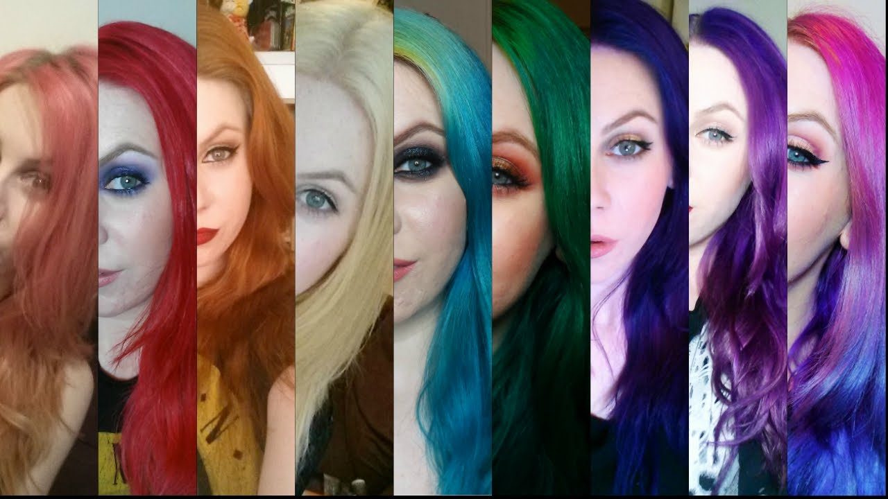 Faq Dying Your Hair Bright Colors Semi Permanent Hair Colours