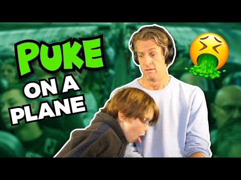 He puked on the plane // The Holderness Family