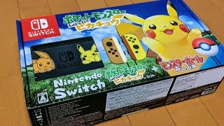 Unboxing the Nintendo Switch Pikachu & Eevee Edition (Pokemon Let's Go Bundle)