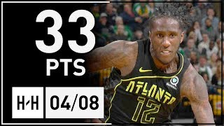 Taurean Prince Full Highlights Hawks vs Celtics (2018.04.08) - 33 Points, 8 Reb!