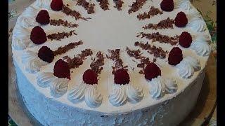 Малиновый торт.  Праздничный