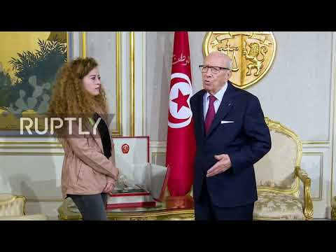 Tunisia: Jailed slap teen Ahed Tamimi meets President Essebsi