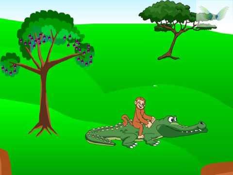 crocodile and monkey  gujarati bal varta