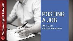 Posting A Job On Your Facebook Page
