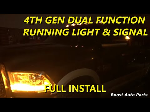Dodge Ram Running Light  Signal Tow Mirrors Mod (FOURTH GEN) - YouTube