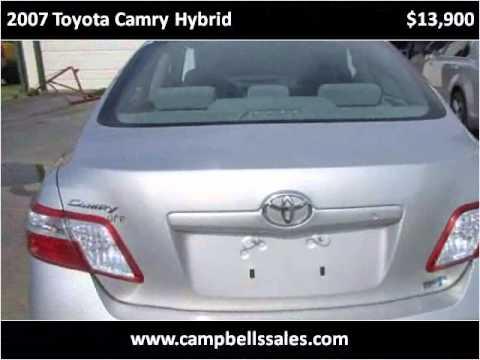 2007 Toyota Camry Hybrid Used Cars Melbourne AR