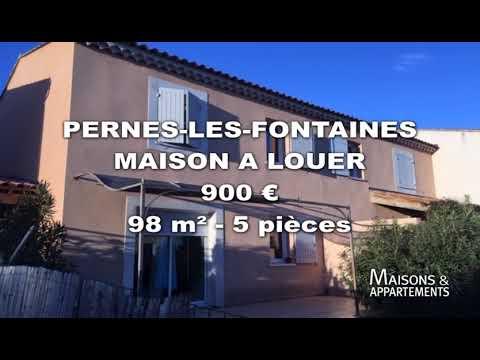 PERNES-LES-FONTAINES - MAISON A LOUER - 900 € - 98 m² - 5 pièces