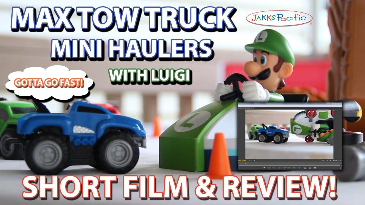 Luigi Meets Max Tow Short Film Max Tow Truck Mini Haulers Review