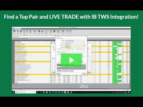 How to Find the Best Pairs and Live Trade Video to Interactive Brokers