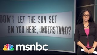 The History Of .Sundown Towns. | This Day Forward | msnbc Melissa Harris-Perry talks about the history