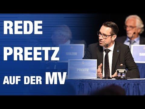 Rede von Preetz auf der Hertha BSC Mitgliederversammlung Mai 2018