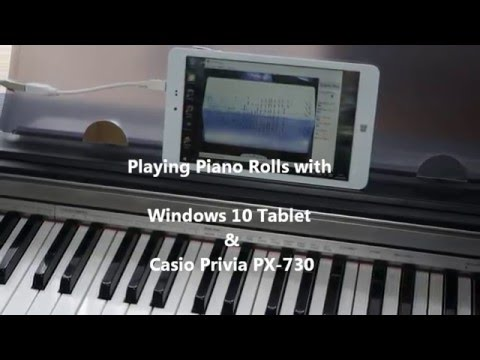 Piano Roll Reader using Windows 10 Tablet and Digital Piano