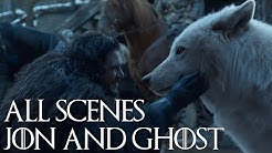 Jon and Ghost All scenes S1 - S8 Game of Thrones