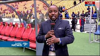 Mood at FNB stadium ahead of Barcelona, Sundowns match: Thabiso Sithole