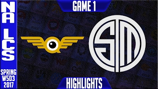 Fly Quest vs TSM Highlights Game 1 - NA LCS W5D3 Spring 2017 - FLY vs TSM G1