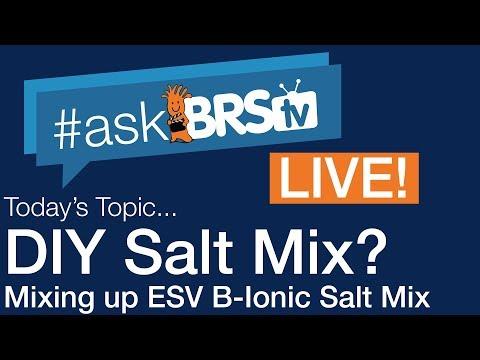 DIY Salt Mix? Mixing Up ESV B-Ionic Salt Mix | #AskBRStv Live