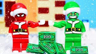 Lego City EXPERIMENTAL Police Chase - Superheroes and Grinch ANIMATION for KIDS