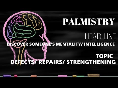 DISCOVER SOMEONE'S MENTALITY/ INTELLIGENCE (HEADLINE) - DEFECTS/ REPAIRS/ STRENGTHENING