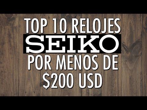 Top 10 Relojes Seiko Por Menos de $200 USD - El Relojero MX