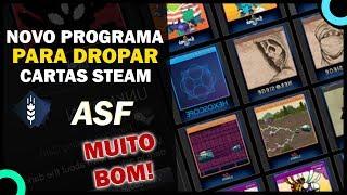 MUITO FÁCIL DROPAR CARTAS STEAM com o novo programa - ASF