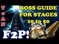 Boss Stages Guide for ToA Normal 10 to 50 with F2P Team SUMMONERS WAR