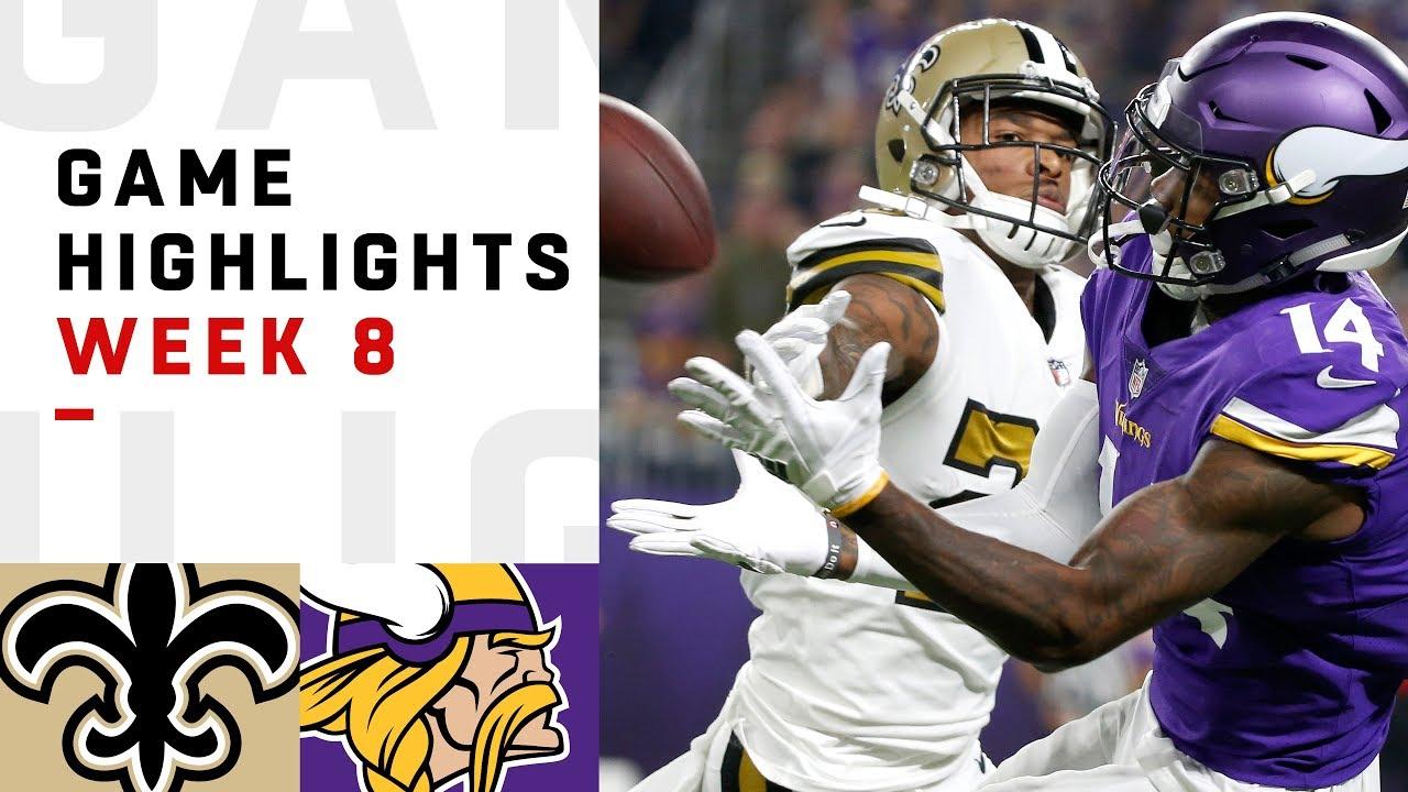 Saints vs. Vikings Week 8 Highlights   NFL 2018