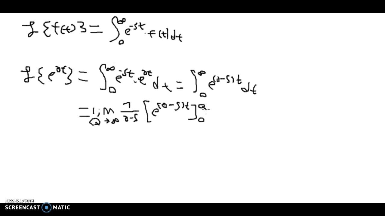 Mat Uni: Laplace transformation af Eulers tal