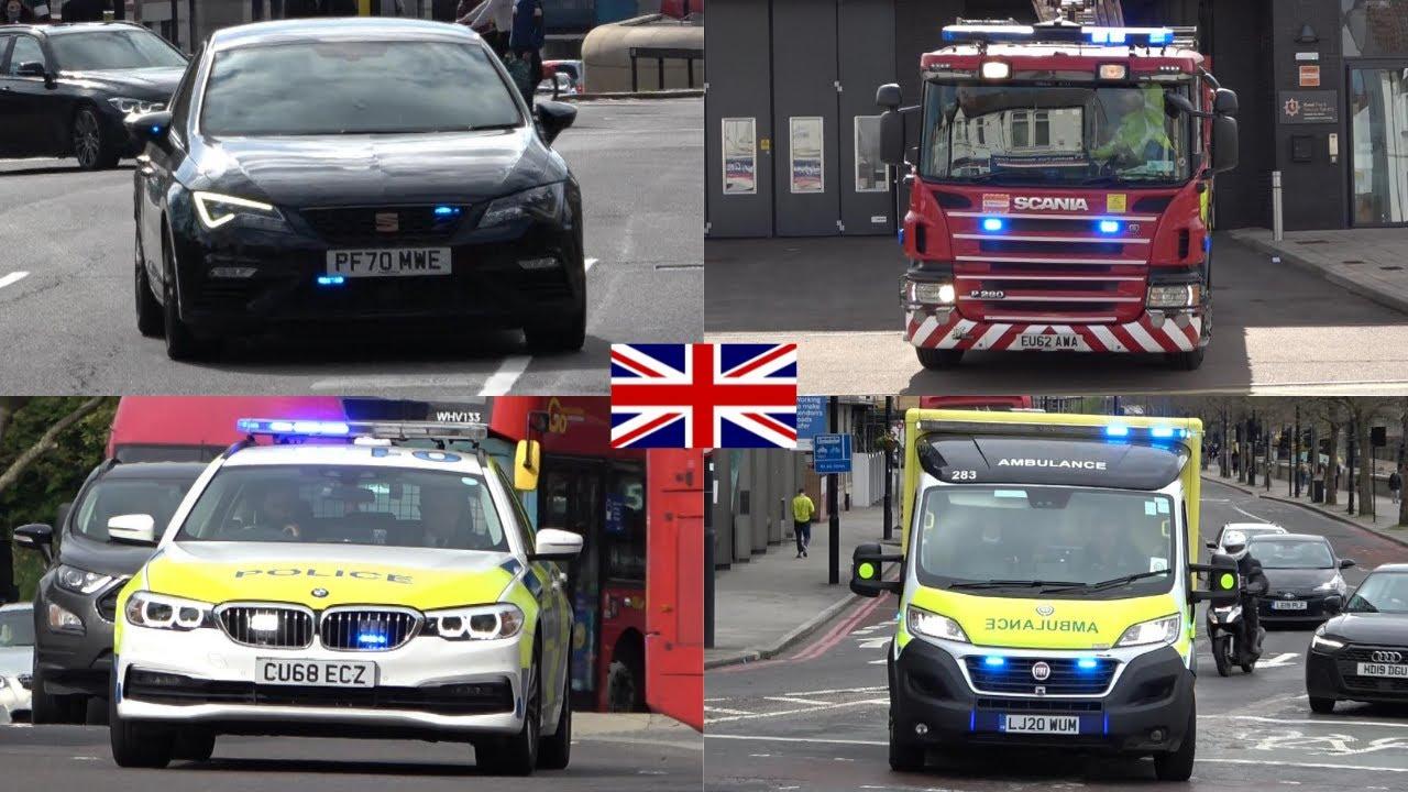 Unmarked Metropolitan Police Seat Leon Cupra Responding + Police, Fire & Ambulance Responding