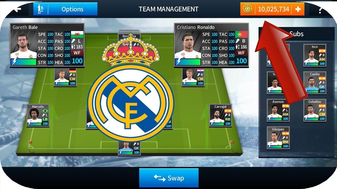 dream league soccer 2018 mod apk all players 100